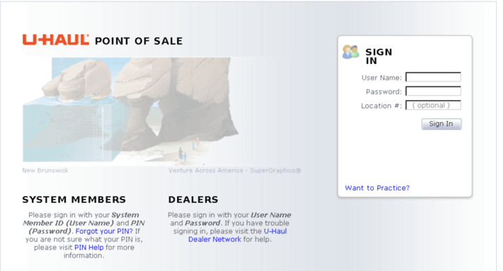 Uhaul Point of sale (POS)