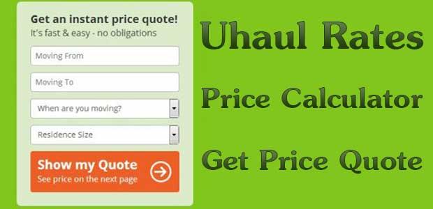 UHaul Rates & Prices